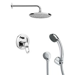 REMER SFH6162 ORSINO MODERN SHOWER FAUCET SET WITH HANDHELD SHOWER IN CHROME