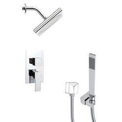 REMER SFH6193 ORSINO SQUARE MODERN SHOWER FAUCET WITH HANDHELD SHOWER IN CHROME