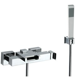 REMER ZC02US FLASH EXTERNAL DIVERTER WITH WATERFALL SPOUT AND HANDSHOWER WITH BRACKET IN CHROME