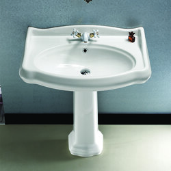 CERASTYLE 030300-PED 1837 32 X 21 INCH CLASSIC-STYLE WHITE CERAMIC PEDESTAL SINK