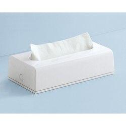 GEDY 2008-02 SECTOR RANGE RECTANGULAR TISSUE BOX COVER IN WHITE FINISH