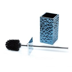 GEDY 4733-05 MARTINA FREE STANDING POTTERY TOILET BRUSH IN BLUE FINISH
