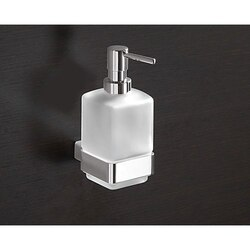 GEDY 5481 LOUNGE WALL MOUNTED FROSTED GLASS SOAP DISPENSER