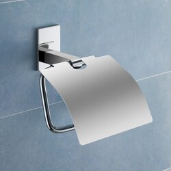 GEDY 7825 MAINE BRASS TOILET ROLL HOLDER WITH COVER