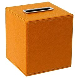 GEDY AC02 ALIANTO COLOUR SQUARE TISSUE BOX HOLDER MADE FROM FAUX LEATHER
