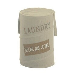 GEDY CO38-03 LAUNDRY ROUND LAUNDRY BASKET IN BEIGE