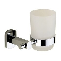 GEDY ED10-13 EDERA WALL MOUNTED FROSTED GLASS TUMBLER WITH LACQUERED MOUNTING IN CHROME