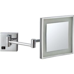 NAMEEKS AR7701-5X GLIMMER SQUARE WALL MOUNTED LED 5X MAKEUP MIRROR