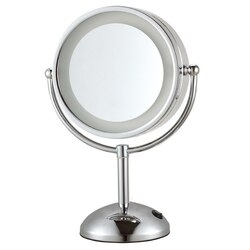 NAMEEKS AR7713-3X GLIMMER DOUBLE FACE ROUND 3X MAKEUP MIRROR