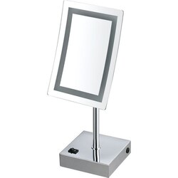 NAMEEKS AR7715-CR-3X GLIMMER SINGLE FACE LED 3X MAKEUP MIRROR - CHROME FINISH