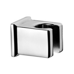 REMER 339SOS SHOWER HOLDERS SQUARED SHOWER HOLDER IN PLATED BRASS