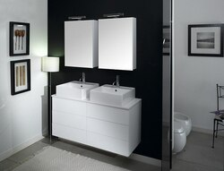 IOTTI NT4 TIME COLLECTION 47.2 INCH DOUBLE VANITY SET WITH MEDICINE CABINET