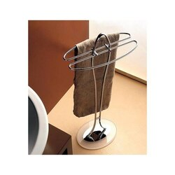 TOSCANALUCE 897 KOR 33 INCH FREE STANDING TOWEL STAND WITH PLEXIGLASS BASE