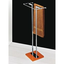 TOSCANALUCE 4577 EDEN 33 INCH FREE STANDING TOWEL STAND WITH PLEXIGLASS BASE