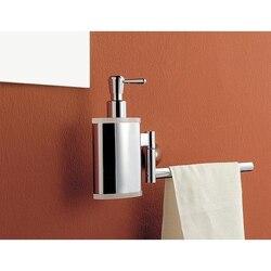 TOSCANALUCE 5528 KOR 13 INCH CHROME TOWEL BAR WITH BRASS SOAP DISPENSER