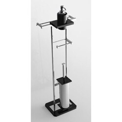 TOSCANALUCE G375 GRIP FREE STANDING 4-FUNCTION BATHROOM ACCESSORY SET