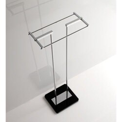 TOSCANALUCE G377 GRIP 33 INCH FREE STANDING TOWEL STAND WITH PLEXIGLASS BASE