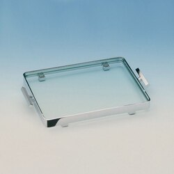 WINDISCH 51419 TRAYS RECTANGLE CLEAR CRYSTAL GLASS BATHROOM TRAY