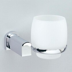 WINDISCH 85156 BELLATERRA WALL MOUNTED FROSTED CRYSTAL GLASS BATHROOM TUMBLER