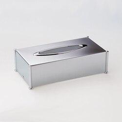 WINDISCH 87106 BOTIQUE RECTANGLE BRASS TISSUE BOX COVER
