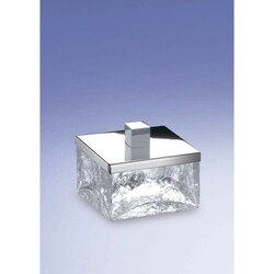 WINDISCH 88147 COMPLEMENTS FREE STANDING CRACKLED GLASS SQUARE BATH JAR