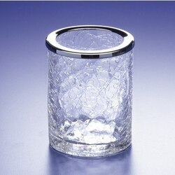 WINDISCH 91125 ADDITION CRACKLED CRACKLED CRYSTAL GLASS TOOTHBRUSH HOLDER