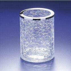 WINDISCH 91126 ADDITION CRACKLED ROUND CRACKLED GLASS TOOTHBRUSH HOLDER