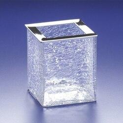 WINDISCH 91129 BOX CRACKLED SQUARE CRACKLED CRYSTAL GLASS TOOTHBRUSH HOLDER