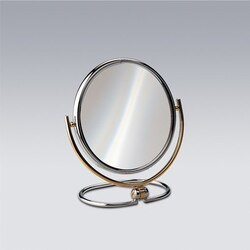 WINDISCH 99121 STAND MIRRORS BRASS DOUBLE FACE MAGNIFYING MIRROR