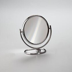 WINDISCH 99122 MIRROR COLLECTION BRASS DOUBLE FACE MAGNIFYING MIRROR