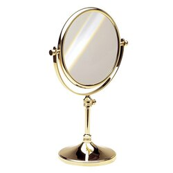 WINDISCH 99132 STAND MIRRORS DOUBLE FACE PEDESTAL BRASS MAGNIFYING MIRROR