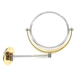WINDISCH 99139 DOUBLE FACE MIRRORS WALL MOUNTED BRASS DOUBLE FACE MAGNIFYING MIRROR