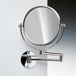 WINDISCH 99141 DOUBLE FACE MIRRORS WALL MOUNTED DOUBLE FACE BRASS MAGNIFYING MIRROR