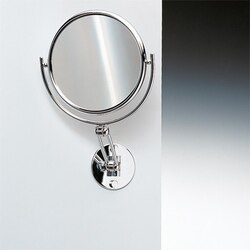WINDISCH 99146 DOUBLE FACE MIRRORS WALL MOUNTED DOUBLE FACE BRASS MAGNIFYING MIRROR