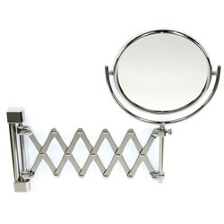 WINDISCH 99148 DOUBLE FACE MIRRORS WALL MOUNTED BRASS EXTENDABLE DOUBLE FACE MAGNIFYING MIRROR