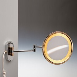 WINDISCH 99150 INCANDESCENT MIRRORS WALL MOUNTED LIGHTED BRASS MAGNIFYING MIRROR
