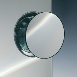 WINDISCH 99302 SUCTION PAD CHROME ONE FACE MAGNIFYING MIRROR