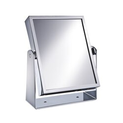 WINDISCH 99324 MIRROR COLLECTION SQUARE DOUBLE FACE BRASS MAGNIFYING MIRROR