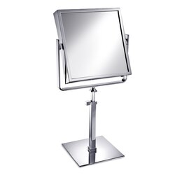 WINDISCH 99335 MIRROR COLLECTION SQUARE BRASS PEDESTAL DOUBLE FACE MAGNIFYING MIRROR