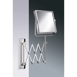 WINDISCH 99348 MIRROR COLLECTION SQUARE WALL MOUNTED EXTENDABLE BRASS MAGNIFYING MIRROR