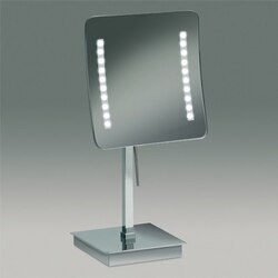 WINDISCH 99627 FREE STAND LED MIRRORS SQUARE PEDESTAL LIGHTED MAGNIFYING MIRROR