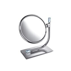 WINDISCH 99636 CONCEPT LINE BRASS DOUBLE FACE MAGNIFYING MIRROR WITH SWAROVSKI CRYSTAL