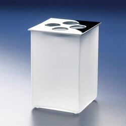 WINDISCH 83122M BOX FROZEN SQUARE 4-HOLE TOOTHBRUSH HOLDER