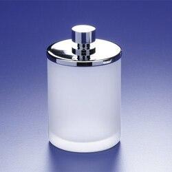 WINDISCH 88124M ADDITION FROZEN ROUND FROSTED GLASS COTTON SWAB JAR