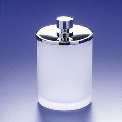 WINDISCH 88125M ADDITION FROZEN ROUND FROSTED GLASS COTTON BALL JAR