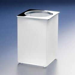 WINDISCH 91122M BOX FROZEN SQUARE FROSTED GLASS TOOTHBRUSH HOLDER