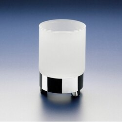 WINDISCH 94117M BOX FROZEN ROUND FROSTED CRYSTAL GLASS TUMBLER
