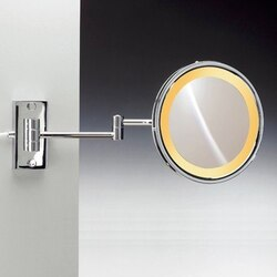 WINDISCH 99157/2 INCANDESCENT MIRRORS WALL MOUNT ONE FACE LIGHTED BRASS MAGNIFYING MIRROR