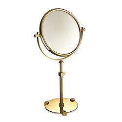 WINDISCH 99526A MOON LIGHT PEDESTAL DOUBLE FACE WITH BLUE CRYSTALS MAGNIFYING MIRROR