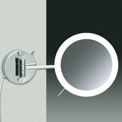 WINDISCH 99650/1 LED MIRRORS WALL MOUNTED ONE FACE LIGHTED MAGNIFYING MIRROR